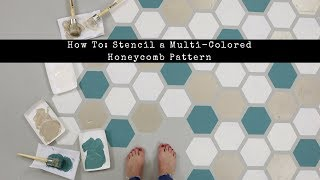 How To Stencil A Multi-Colored Honeycomb Design On A Concrete Floor