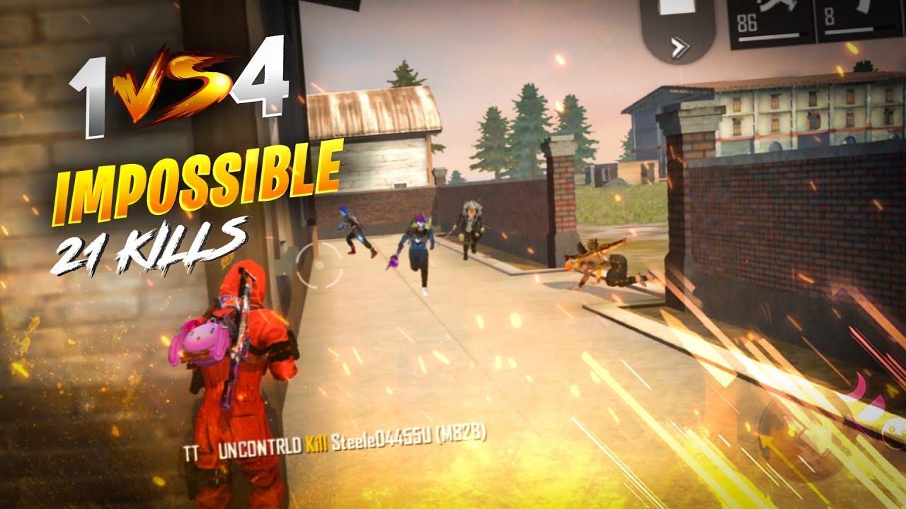 Red Criminal 21 Kills Solo vs Squad Unbeatable Gameplay - Garena Free Fire