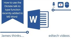 How to use the dictate feature in Microsoft word