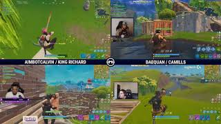 Aimbotcalvin & King Richard vs TSM Daequan & TSM Camills | Friday Fortnite Week 5 | Winners Round 1