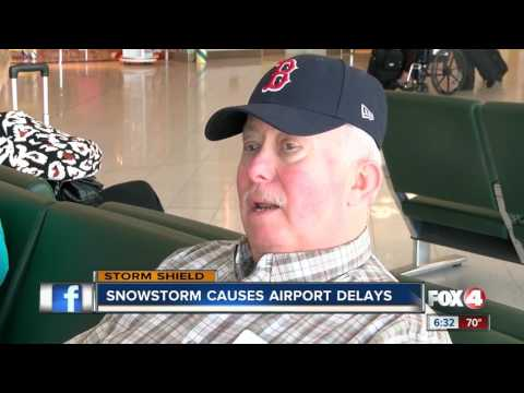 Severe winter weather up north causing delays, cancellations at RSW