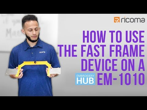 Embroidery Hub Ep. 14: Fast Frames Embroidery Hoops for EM-1010 | Fast Frames Embroidery Tutorial