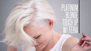 Platinum Blonde Hair Touch-Up with Feria