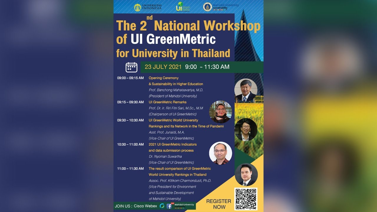 The  2nd National Workshop of UI GreenMetric for University in Thailand