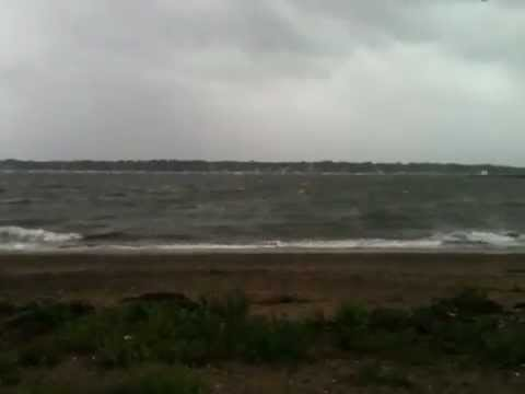 Windy Irene at Salem Maritime Site