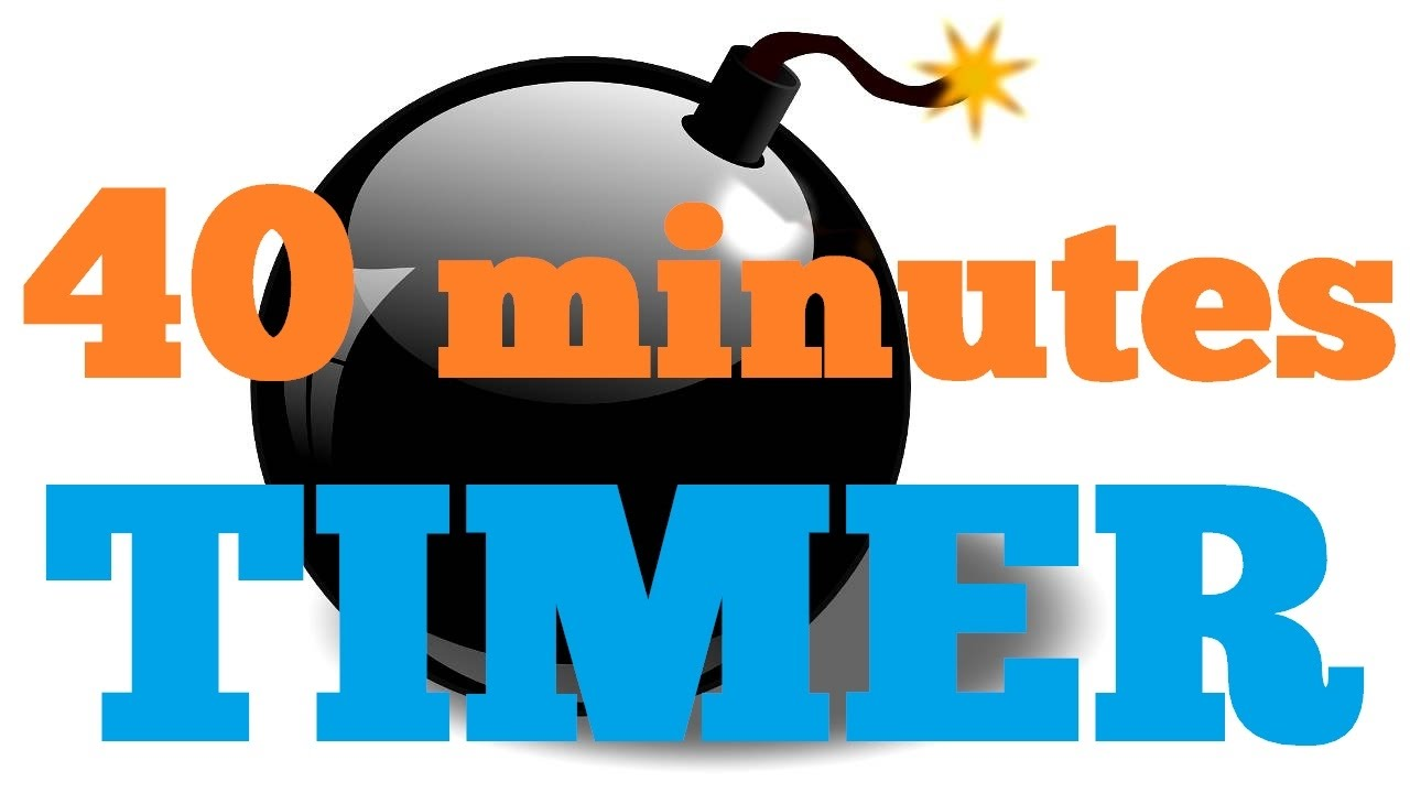 timer 40 minutes countdown clock
