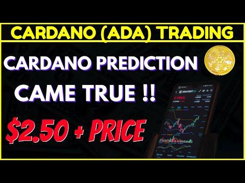 💲| COINBASE PRO CARDANO TRADING | My Prediction Came True!!