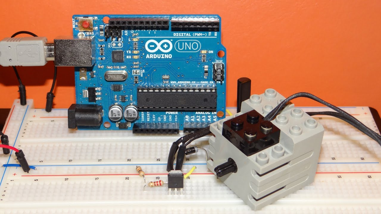 Arduino how to control a dc motor lego technic with