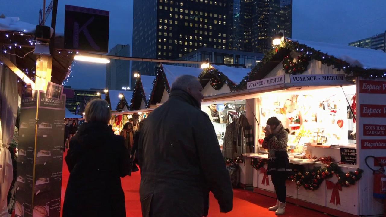 Paris Weihnachtsmarkt.Weihnachtsmarkt In La Défense Paris Urlaubshamster Timelapse