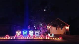 2016 League City Halloween Lights - Monster Mash