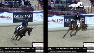 Conor Swail and Simba de la Roque and Callan Solem and VDL Wizard Side by Side