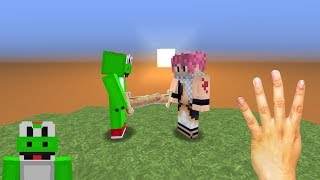 Fighting with FINGERS in MINECRAFT!!