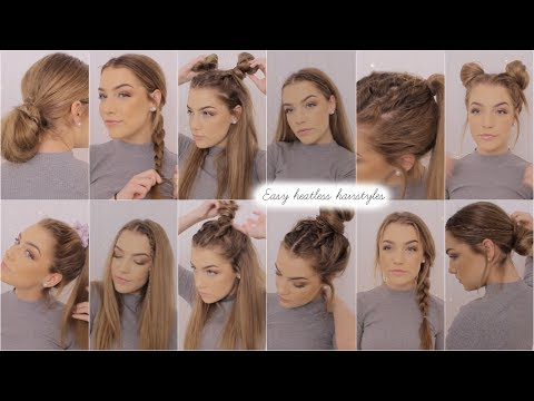 Easy Heatless Hairstyles 2018