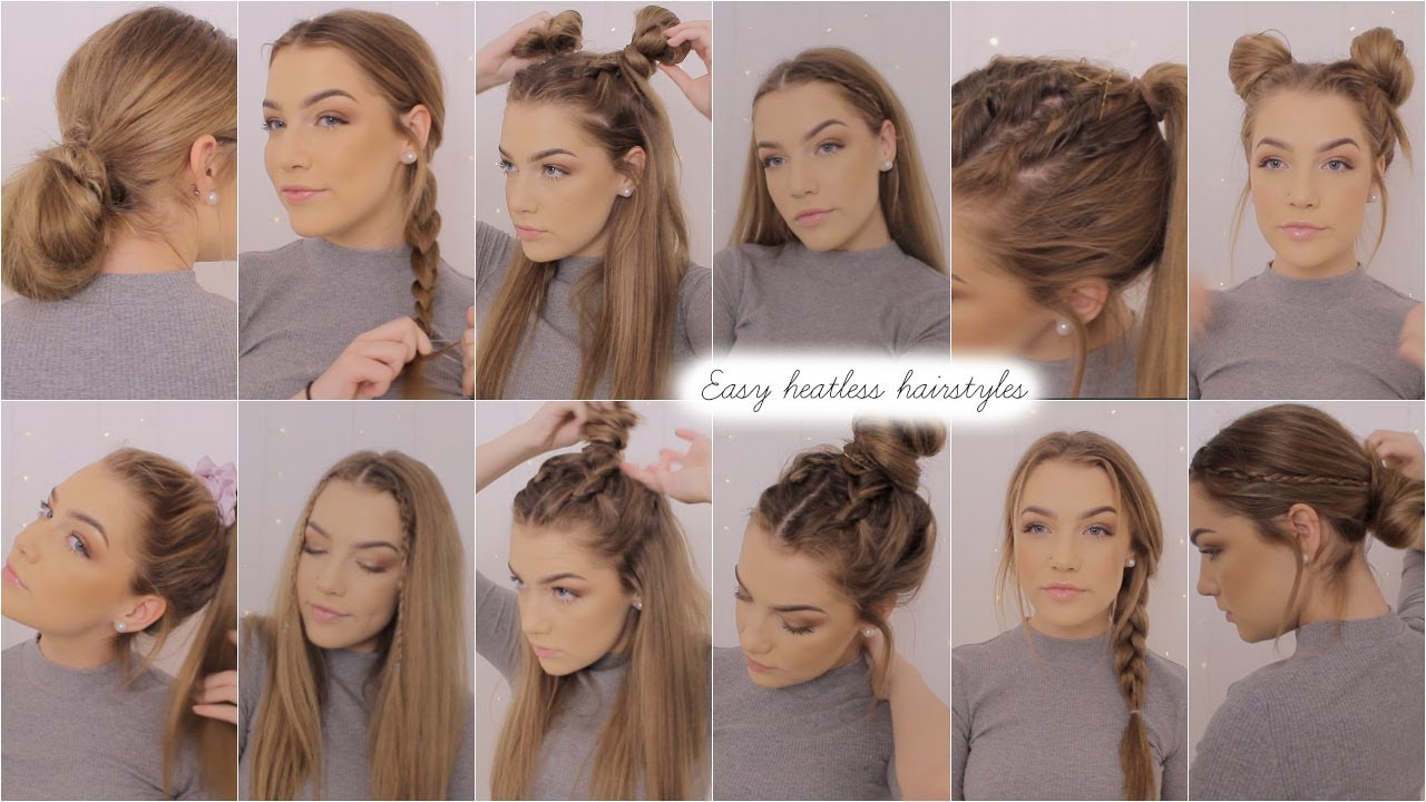 Hair Styles For Summer: Easy Heatless Hairstyles ♡