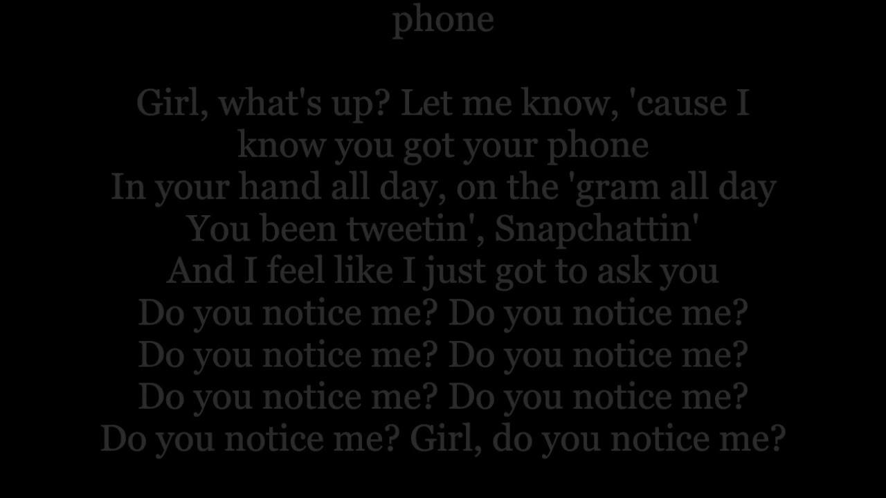 notice me lyrics