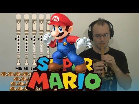 Mario Bros en flauta dulce DIFICILISIMA!!! Todo un desafío -Con notas explicadas!