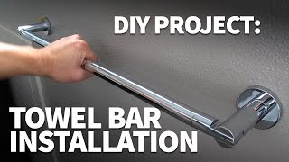 How to Install a Towel Bar in Drywall – Strong Towel Rack Installation