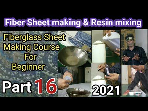 Resin/ How to make fiber sheet & Resin mixing/ Fiberglass sheet/ resin mix/Cobalt/ Mekp