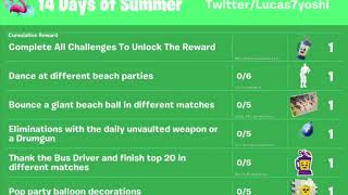 FORTNITE 14 DAYS OF SUMMER CHALLENGES & REWARDS!