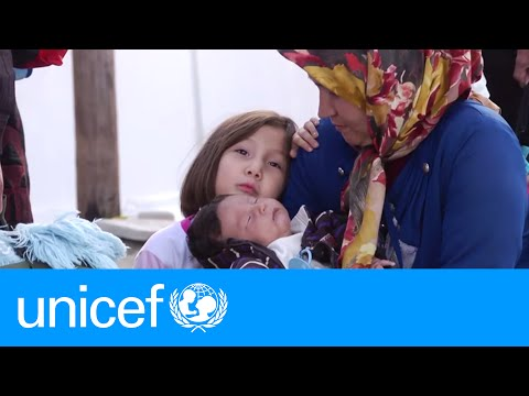 What happens at a transit camp for refugees in Europe?   UNICEF