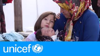 What happens at a transit camp for refugees in Europe? | UNICEF