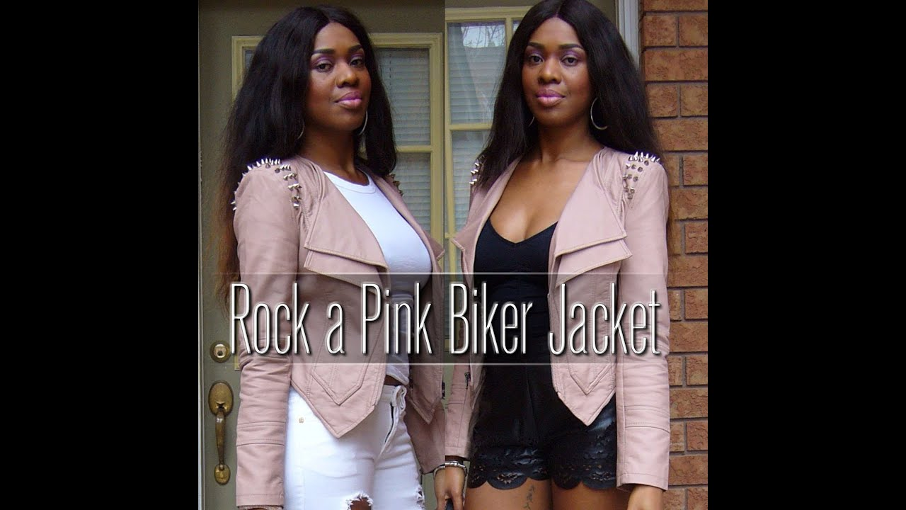 How to wear a Pink Biker Jacket - YouTube