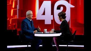 """Adrian Năstase, următorul invitat la """"40 de întrebări cu Denise Rifai"""", marți, 5 ianuarie, de la ora"""