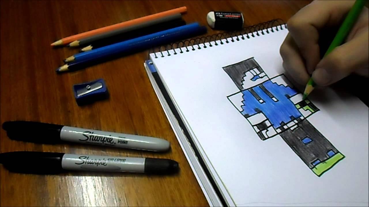 Dibujando Skin LoLoYT / Minecraft