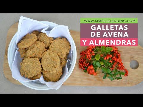 Receta de galletas de avena y almendra | Cómo reutilizar la pulpa de almendra | Sin azúcar