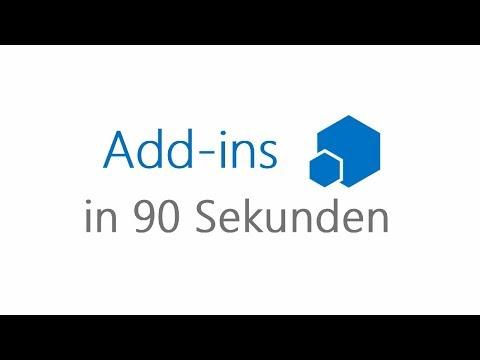 Microsoft Bildung - Erklärvideo: Add-ins in 90 Sekunden