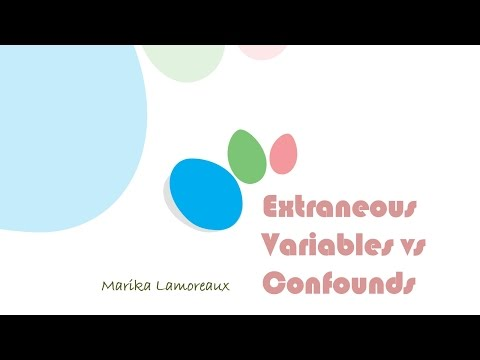 Extraneous Variables vs Confounds