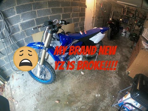 MY BRAND NEW DIRT BIKE WONT START!!!