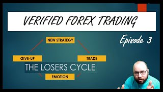 Verified Forex Trading - Episode 3 - 'The LOSERS Cycle / STICK with the STRATEGY' #forex #trading