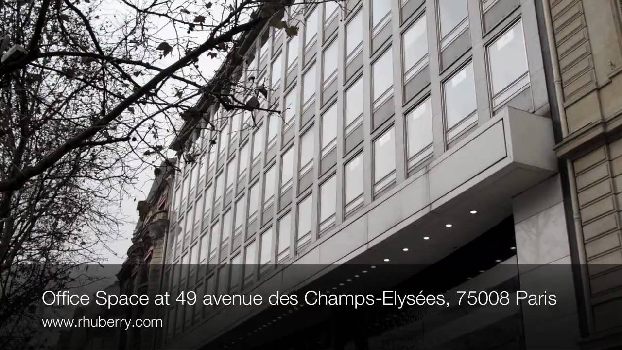 office space at 49 avenue des champs elys es 75008 paris youtube. Black Bedroom Furniture Sets. Home Design Ideas