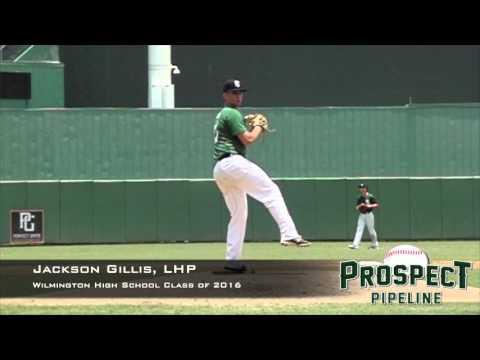 Jackson Gillis, LHP, Wilmington High School, Pitching Mechanics at 200 FPS