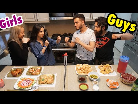 COOKING IFTAR CHALLENGE **GIRLS vs GUYS**