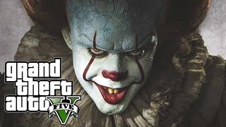 PENNYWISE KIDNAPPED TRACEY!!! GTA V PENNYWISE IT MOD - SAVING MICHAEL