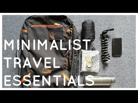 Minimalist travel essentials