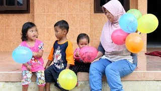 Bermain Balon Sambil Belajar Warna - Finger Family Song for Children Toddlers Nursery Rhymes
