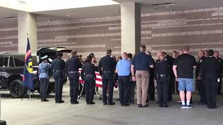 Phoenix police Officer body transported from hospital after being hit by car