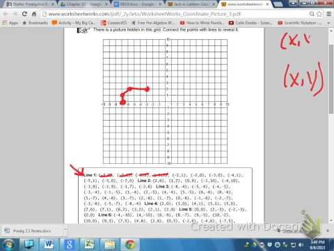 Graphing ordered pairs to make a picture - YouTube