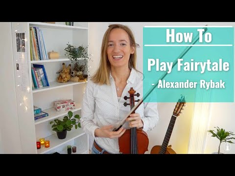 How to play FAIRYTALE  Alexander Rybak Advanced Song  Violin Tutorial