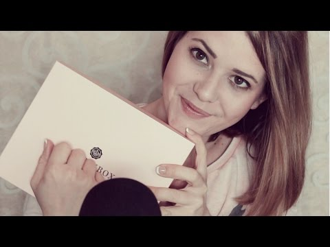 ASMR Entspanntes Unboxing ♡ Glossy Box ♡ tapping, scratching and whispering in German/Deutsch
