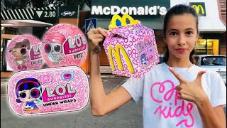 СЮРПРИЗЫ ЛОЛ ХЭППИ МИЛ в МаКДОНАЛЬДС / LOL SURPRISE SERIES 4 MCDONALDS HAPPY MEAL DIY