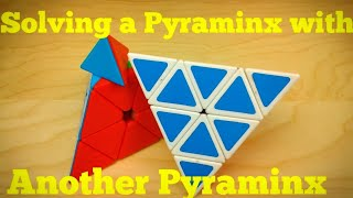 Solving a Pyraminx With Another Pyraminx! (Challenge)