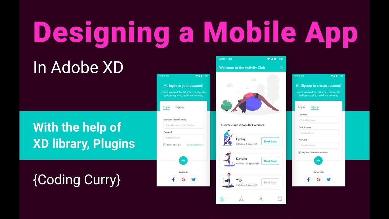 Mobile App Design In Adobe XD