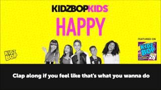 KIDZ BOP Kids - Happy with lyrics (KIDZ BOP 26) #ReadAlong