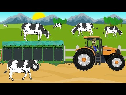 ☻ Farmer | Farm Works - Buy Cattle | Cow | Praca Rolnika - Wyprawa Po Krowy .Bajki ☻