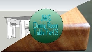 Build A Dining Room Table Set - Part 3 (the Finishing Process)