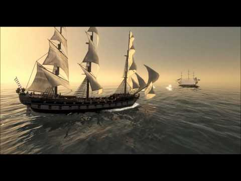 HMS Victory Vs. USS Constitution; Empire - Total War (Machinima).